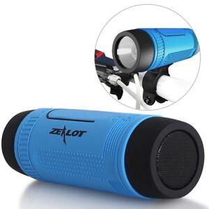 Outdoor Speakers Portable Bluetooth Bicycle Speaker Zealot S1 4000Mah Power Bank
