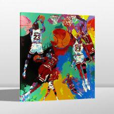 Art Painting Print LeRoy Neiman Michael Jordan Home Wall Decor on Canvas 24x30