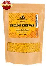 YELLOW BEESWAX BEES WAX ORGANIC PASTILLES BEADS PREMIUM 100% PURE 16 OZ, 1 LB