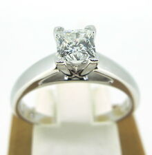 .70 ct Diamond Leo Princess Cut Solitaire 14k White Gold Engagement Ring Sz 7