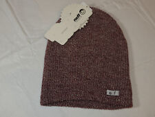 NEFF Daily Beanie knit hat skull cap lid NEW One Size maroon white NF00001 NWT