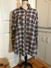 Womens Size 2 2x Maurices Buttong Front Shirt Long Sleeve
