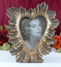 Bilderrahmen Fotorahmen Oval Rahmen Rot Gold Polyresin Deko Antik Stil Louis XVI