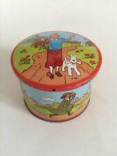 Boite en métal Tintin Brochet 1965     TRES BON ETAT