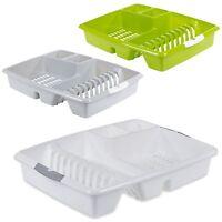 Plastic Dish Drainer Plate Utensil Rack Kitchen Sink Cutlery Draining Cup Holder