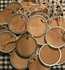 "25 Metal Rim Round Circle SMALL 1-1//4/"" WHITE AVERY Price Gift Hang Tags"