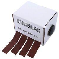 4 Rolls Sanding Belt Drawable Emery Cloth Sandpaper Dry Abrasive Belt Box I9P3