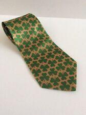 3 Leaf Clover Neck Tie * Three Leaf Irish Pride St Patricks Day Gold And Green