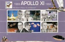 APOLLO XI / NASA Engineers / Werner von Braun Space Stamp Sheet (1994 Guyana)