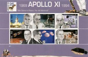 APOLLO XI / NASA Engineers / Werner von Braun Space Stamp Sheet (1994 Guyana)