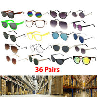 Bulk Lot Wholesale 36 Fashion Sunglasses Eyeglasses Assorted Men & Women Styles