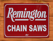 "TIN-UPS TIN SIGN ""Remington Chain Saws"" Vintage Rustic Wall Decor"
