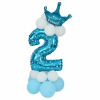 Folienballon Zahlenballon Latexballon Blau Riesenzahl Luftballon Baby Dusche SX