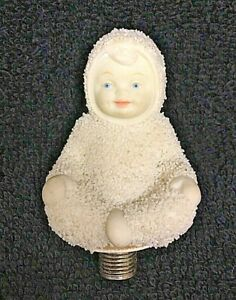 "Dept 56 Snowbabies Miniature Lamp Finial Decoration 2"" x 1 1/2"""