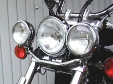 Stirrup Headlights Additional for Yamaha XVS 650 Drag Star Bobber Custom Chopper