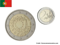2 Euros Commémorative PORTUGAL Drapeau / Flag 2015 UNC
