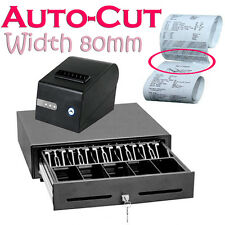 """Cash Drawer Register 3 1/8"""" Thermal Receipt Printer Point of Sale Retail Store"""