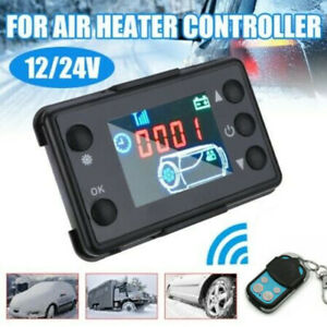 UK Car Air Diesel Heater LCD Switch Parking Controller + 4 Button Remote Control