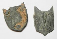 ZURQIEH - AA7400- ROMAN LOT OF TWO BRONZE BELT BUCKLES. 300 - 500 A.D