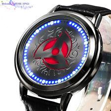 Naruto Watch Sasuke Kakashi Sharingan LED Watch Waterproof Touch Screen Watch