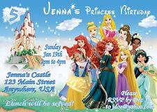 PRINCESS Personalized PHOTO Birthday Invitations - 4x6 OR 5x7