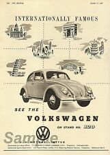 VINTAGE VW VOLKSWAGEN BEETLE CAR ADVERTISING A4 POSTER PRINT