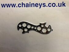 Basic Emergency Cycle Spanner, Suits 11 Sizes Of Nuts And Bolts.
