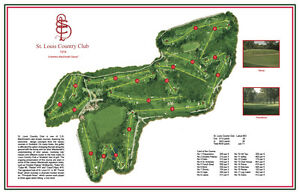 St Louis CC 1922 - C.B MacDonald - Vintage Golf Course Map