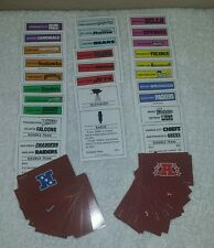 Game Replacement Parts - Monopoly NFL - Property / NFC / AFC Cards
