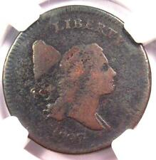1797 Liberty Cap Flowing Hair Half Cent 1/2C - NGC VG Detail - Rare Coin!