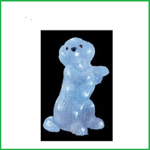 Garden - 35cm Acrylic LED DOG - Indoor or Outdoor Use Battery