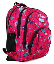 Boys Girls Stylish Butterfly Hearts Backpack Rucksack Bag School Camping Sports