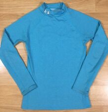Under Armour Fitted Cold Gear Shirt Youth Medium Light Blue