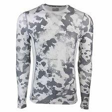 Under Armour Men's HeatGear Sonic Print Fitted L/S Shirt White Camo/Steel 2XL