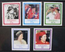KIRIBATI 1986 Queen's 60th Birthday. Set of 5. Mint Never Hinged. SG251/255.