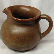 "GORDY WJ GEORGIA SOUTHERN POTTER POTTERY 2.75"" TALL CREAMER TAN BUCKSKIN COLOR"