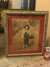 Antique Campbell Art Photograph Print Rudolph Eickemeyer Whistling Boy Numbered