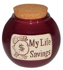 My Life Savings Ceramic Word Jar by Muddy Waters FREE SHIPPING