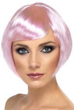 Pink Short Babe Wig Ladies 1950s Rock Hen Night Fancy Dress Womens Costume Wig