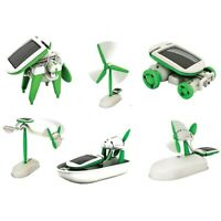 6in1 DIY Mini Solar-powered Robot Set Child Assembly Science Learning Toy Model❤
