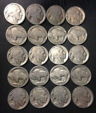 Vintage United States Coin Lot - Buffalo Nickels - 1910s-1930s - Free Shipping