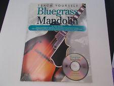*  BLUEGRASS  MANDOLIN -songbook-TEACH YOURSELF  CD