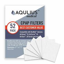 Disposable CPAP Filters (52 Pack - ONE Year Supply) - Fits All ResMed Air 10, Ai