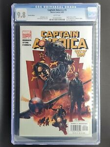Captain America #6 CGC 9.8 1st Winter Soldier Variant Marvel Key WHITE pages