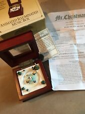 Mr Christmas Animated Illuminated Music Box Skaters - Plays We Wish You a Merry