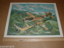 Flying Tigers WWII Military Aircraft fighter warfare US China Air Force poster