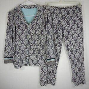 Hue 100% Cotton Matching Loungewear Pajama Set