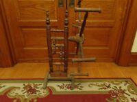 Unusual Antique 19th.c Pennsylvania Wooden Yarn & Wool Winder w Working Gears
