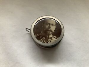 EARLY ANTIQUE KING GEORGE V TAPE MEASURE