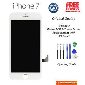 WHITE Original iPhone 7 Retina LCD Digitiser Touch Screen Replacement